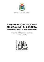 l'osservatorio sociale del comune di casarsa - Provincia di Pordenone
