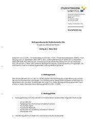 Beitragsordnung - Studentenwerk Ulm