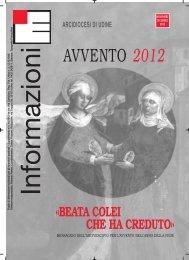 Informazioni Ecclesiali Avvento 2012 - Webdiocesi