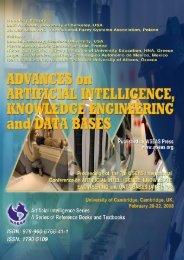 Advances on artificial intelligence, knowledge - WSEAS