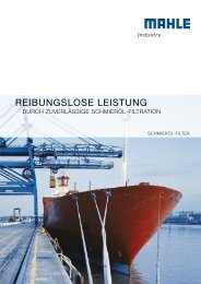 REIBUNGSLOSE LEISTUNG - MAHLE Industry - Filtration