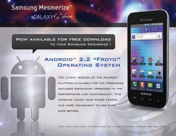 """Android™ 2.2 """"Froyo"""" Operating System - US Cellular"""