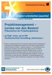 Projektmanagement – Lernen von den Besten!