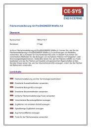 Flächenmodellierung mit Pro/Engineer ... - CE-SYS Engineering