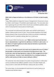 12 December 2012 RQIA Calls for Regional Guidance on the ...
