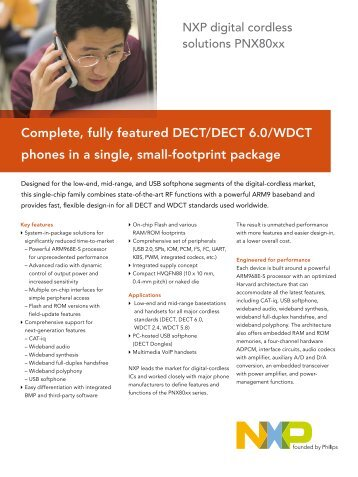 Complete, fully featured DECT/DECT 6.0/WDCT phones in a single ...