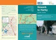 Newark to Harby cycle route map - Sustrans