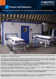 Schleifeinheit CS 45 Fräsen mit Robotern - CIMOTEC ...