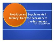 Nutrition and Supplements in Infancy: from the necessary to the ...