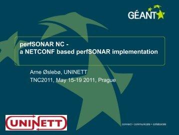 perfSONAR NC - Géant