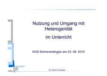 Lernen - KGS Schneverdingen