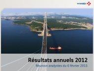 VINCI - Résultats annuels 2012