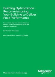 Recommissioning Your Building to Deliver Peak ... - Schneider Electric