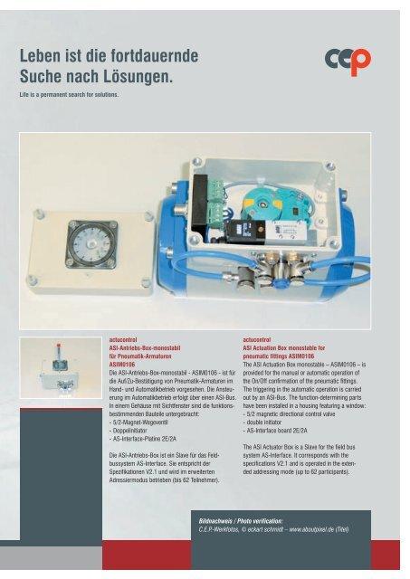 Pneumatische Armaturen - CEP - Anlagenautomatisierung ...