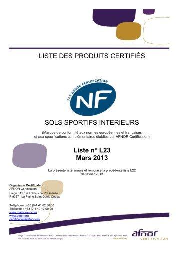 Site de production - Marque NF