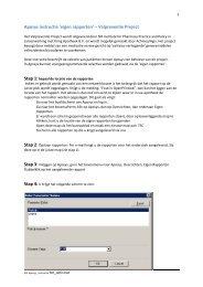 Aposys instructie 'eigen rapporten' – Valpreventie Project