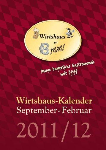 Wirtshaus-Kalender - Wirtshaus zur Brezel