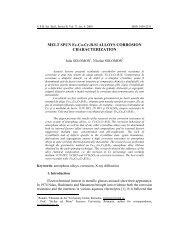 MELT SPUN Fe-Co-Cr-B-Si ALLOYS ... - Scientific Bulletin