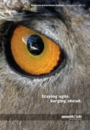 Annual Report 2009 - Omnitechglobal.com