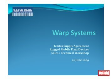 Services - Warp Systems