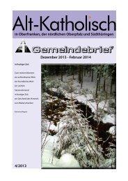 Aktueller Gemeindebrief 4/2013 (als pdf-Datei) - Alt-Katholische ...