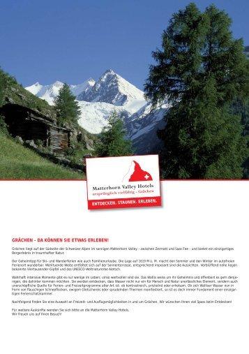 grächen – da können sie etwas erleben! - Matterhorn Valley Hotels