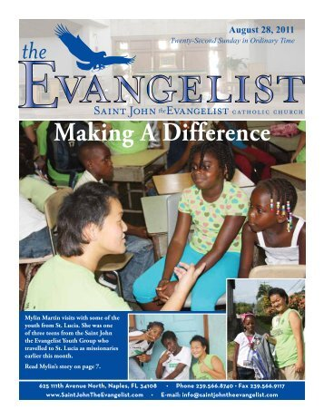 August 28, 2011 - Saint John The Evangelist