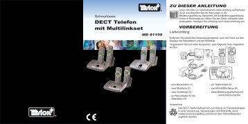 DECT Telefon mit Multilinkset - Progres - przedstawiciel Medion