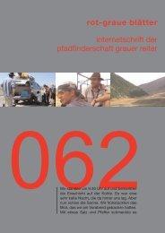 rgb 062 - Schriftleitung der Pfadfinderschaft Grauer Reiter