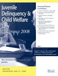 Juvenile Delinquency & Child Welfare Law Juvenile ... - MCLE