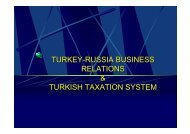 turkey-russia business relations & turkish taxation system turkey ...
