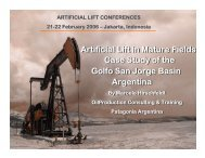 Artificial Lift in Mature Fields Golfo San Jorge ... - OilProduction.net
