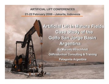 Artificial Lift in Mature Fields Golfo San Jorge ... - OilProduction.net