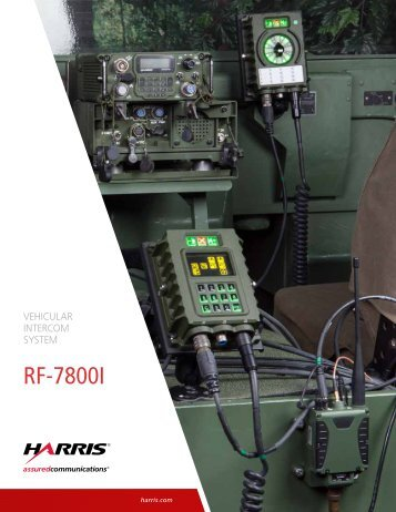 RF-7800I Vehicular Intercom System - Harris RF Communications ...