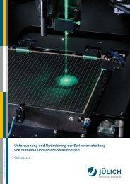 Untersuchung und Optimierung der Serienverschaltung ... - JuSER
