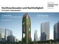 Hochhausfassaden und Nachhaltigkeit - Weiterbildung