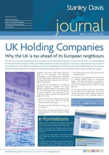 UK Holding Companies - Stanley Davis Group Ltd