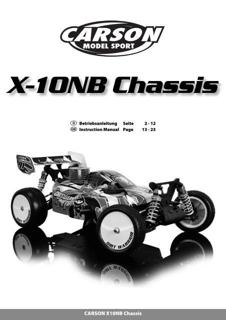 manual x10nb chassis dirt warrior nitro carson. Black Bedroom Furniture Sets. Home Design Ideas