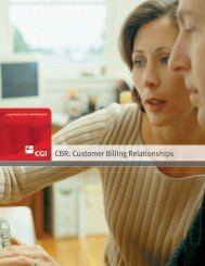 CBR: Customer Billing Relationships - CGI