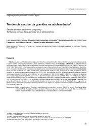 Tendência secular da gravidez na adolescência* - Pediatria (São ...