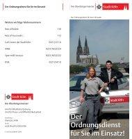 Faltblatt - der Ordnungsdienst für Sie im Einsatz [ PDF ... - Stadt Köln