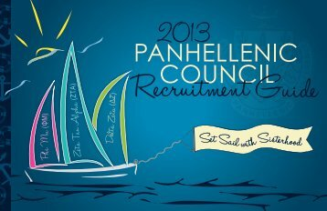 Panhellenic Recruitment Guide - University of South Carolina Upstate