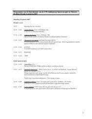 1 Programma van de bijeenkomst van de CW-studiegroep ...