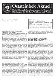 Ausgabe OA Juni-Juli 2013 - Gemeinde Oststeinbek