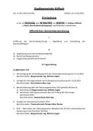 Tagesordnung - Stadtgemeinde Köflach