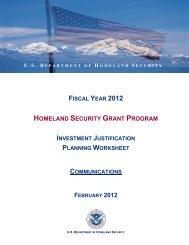 homeland security grant program - Homelandplanning.nebraska.edu