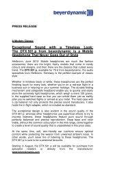 Download press release - Beyerdynamic