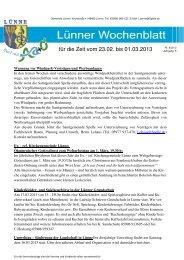Lünner Wochenblatt 23 02 -01 03 2013 - Samtgemeinde Spelle