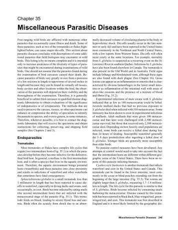 Miscellaneous Parasitic Diseases - National Wildlife Health Center