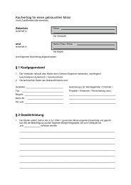 Kaufvertrag für einen gebrauchten Motor § 1 Kaufgegenstand § 2 ...